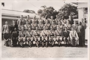 Group photo of the Northern Rhodesia Police