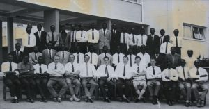 Group photograph of the Officers of C.I.D. and Special Branch, Luanshya 1964. European officer, front row, left to right: