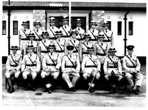 Squad 13 of 1958 passing out parade photo
