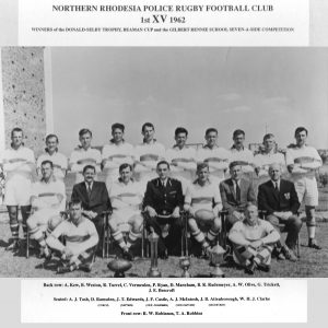 Norther Rhodesia Police Rugby Football Club 1st XV 1962