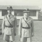 Nigel Rugman & I; Prior to pass-out parade – Dress order No. 1 (Full Dress); Lilayi – recruit squad 10/63