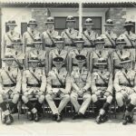 Squad 9/63 – LilayiRear L-R: ?; Davenport; Baker; Rugman; Ratcliffe; Andy ?; BandaCentre L-R: Nesbitt; Newton; Me; Sweeney; Trickett;Discombe;Front L-R: John McFall (Squad Instructor); C/Insp Lee; Snr Supt Edwards; A/Comm. Castle; Supt. Milne; Taff Beaverstock (Law)