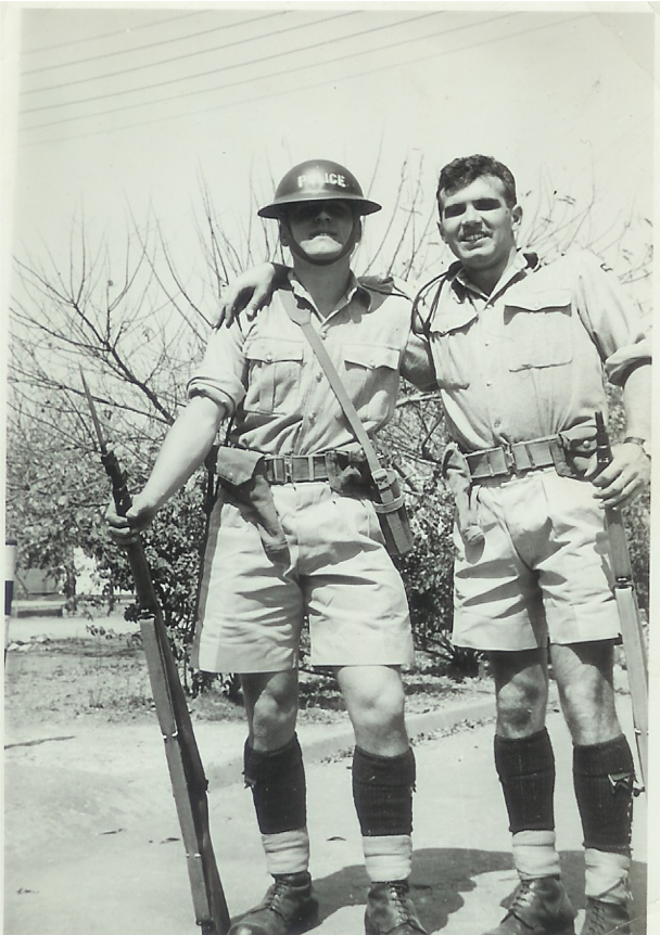 Self & Mike Discombe after classification shoot - Lilayi training School1963