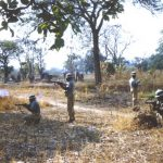 Local village – Chief Chikwa area (Lumpa?) – burnt during the uprising by their opponents/locals