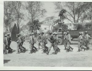 Army in the ruins of Chief Chikwa's village – Lumpa campaign - 1964