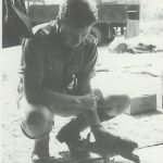 'EiEikkhh' – our grysbuk – with Dave Eagle at camp – Chief Chikwa '64