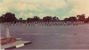 Evening parade of standby platoons – ZP Mobile Unit – Kamfinsa – Circa 1967