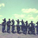 New blue Mobile Unit uniform(1st Battalion) 1967? Insp O'Brien and ?platoon