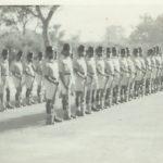 Platoon on Livingstone detachment – rehearsing for guard-of-honour(1965/66)