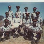 Instructional satff – ZP Mobile Unit – Kamfinsa – Circa 1967Rear L-R; ? ? ? ?Centre: ? Law instructor; Mel O'B; Sub Insp Mwanamane; ?Front: ? ; Sgt. Chingunya (Javelin Thrower)